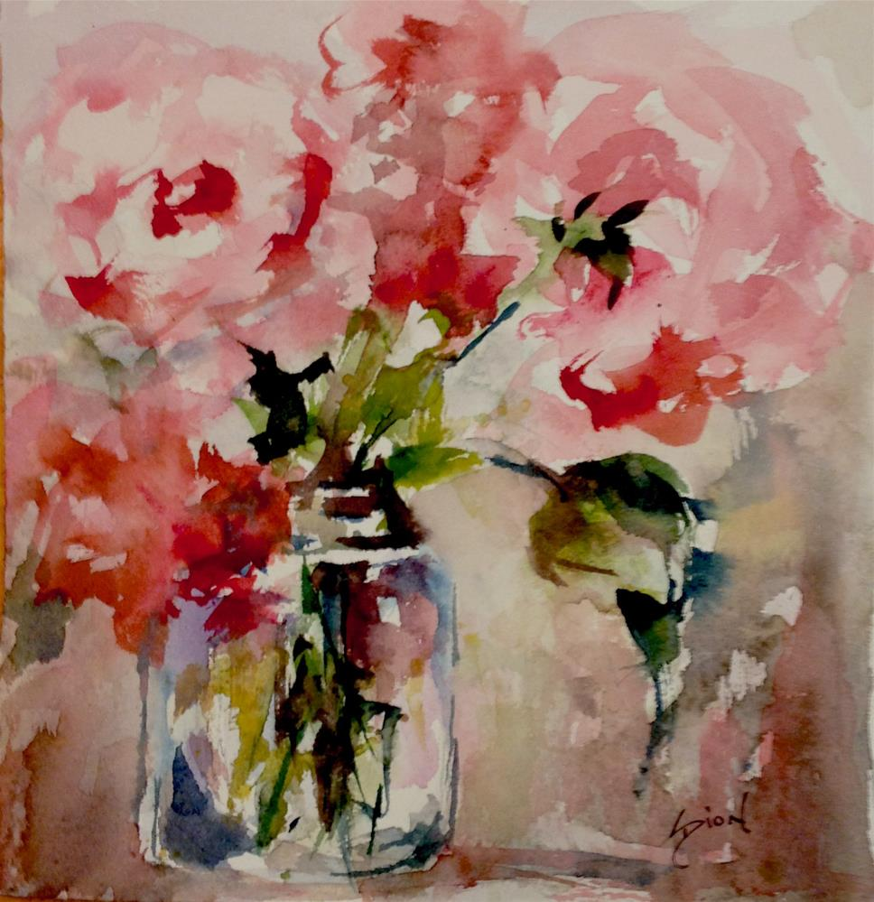 """Roses in Watercolor"" original fine art by Sue Dion"