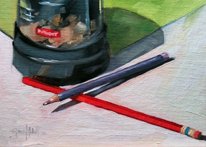 """No 786 Studio Supplies No 1"" original fine art by Robin J Mitchell"