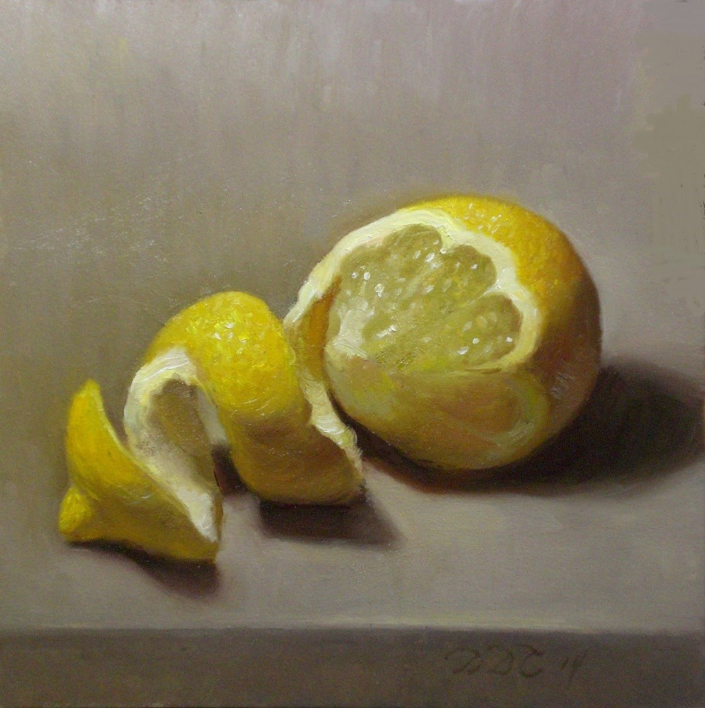 """Simply Lemony"" original fine art by Debra Becks Cooper"