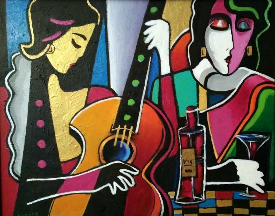 """Girls Night Out"" original fine art by Stuart Glazer"