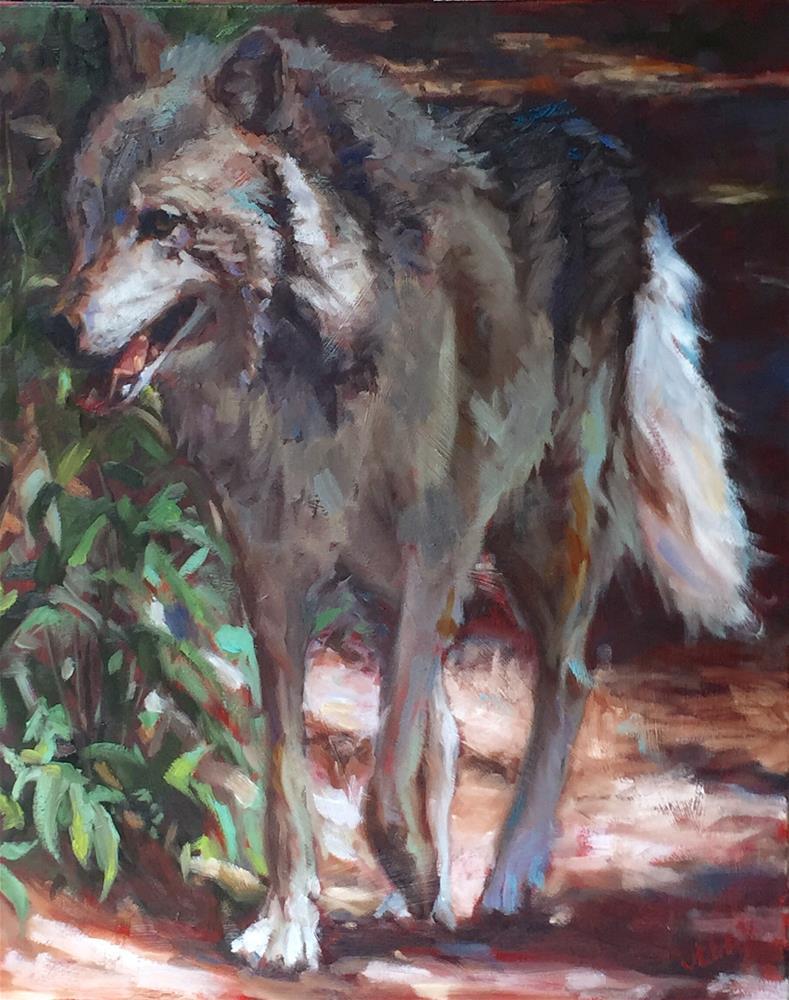 """Not A Bad Wolf"" original fine art by Jenny Buckner"