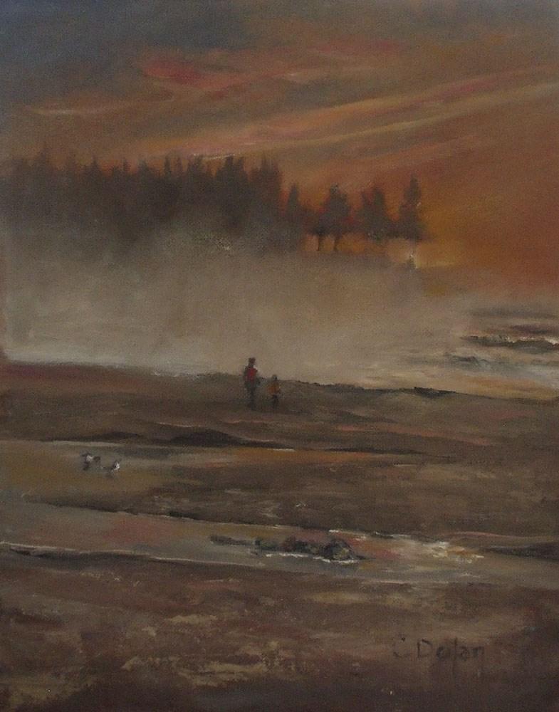 """Sunset at Bastendorf Beach"" original fine art by Cheryl Williams Dolan"