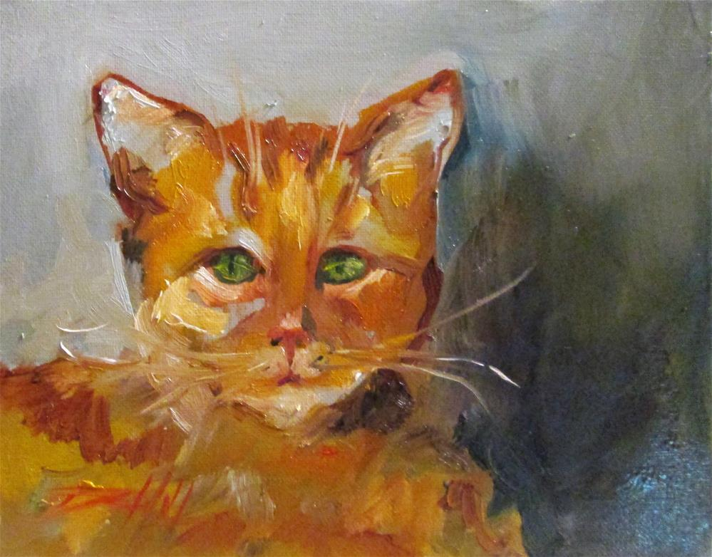 """Orange Cat"" original fine art by Delilah Smith"