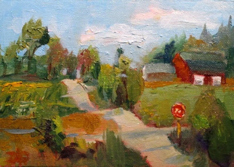 """Cross Road"" original fine art by Delilah Smith"