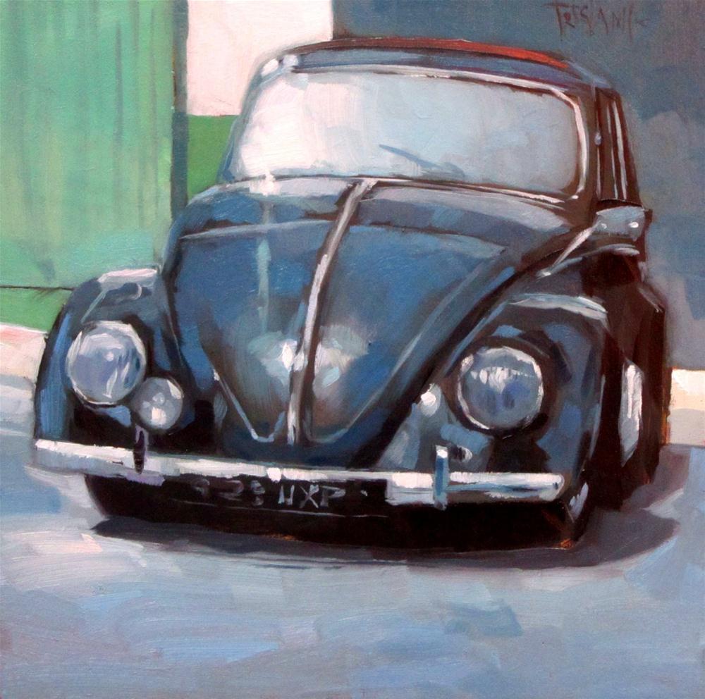 """1956 Beetle"" original fine art by Víctor Tristante"