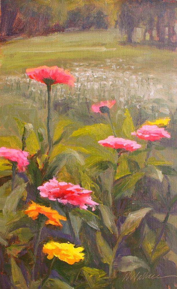 """#67 Through the gerber daisies"" original fine art by Nancy Wallace"