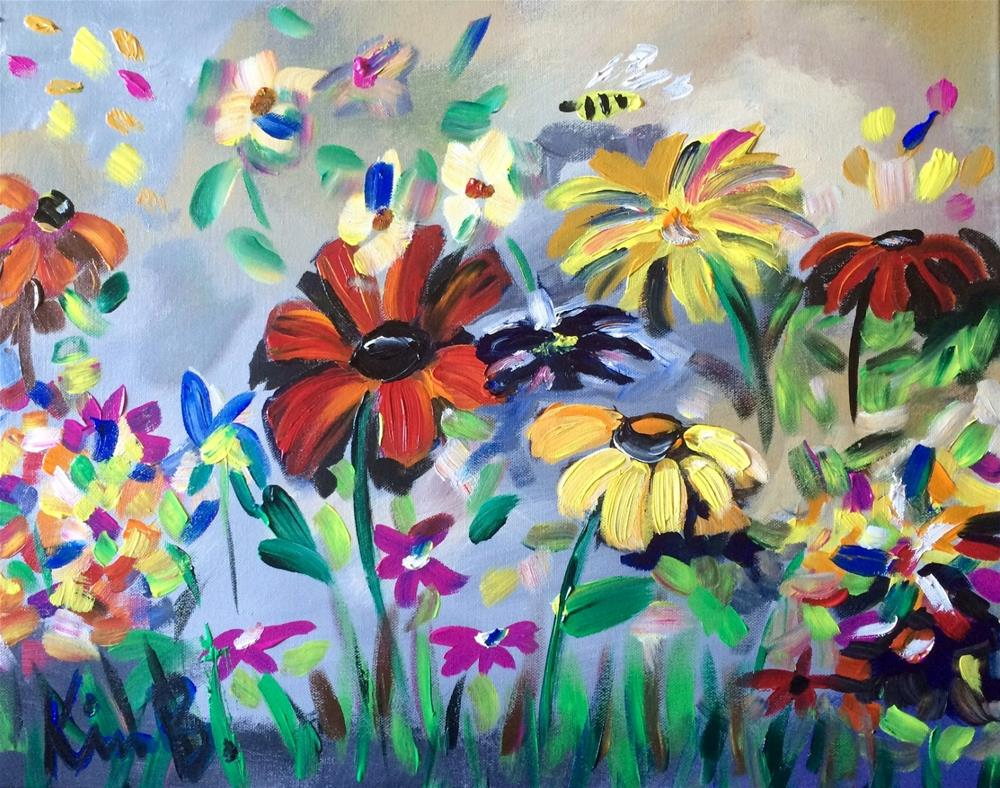 """Posies Abandon"" original fine art by Kimberly Balentine"