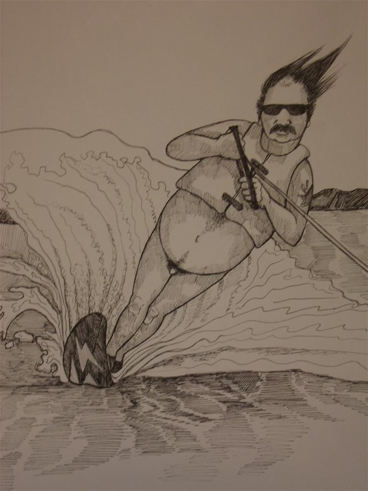"""""""An American Man, Nude, No.331"""" original fine art by wanda sigafus"""