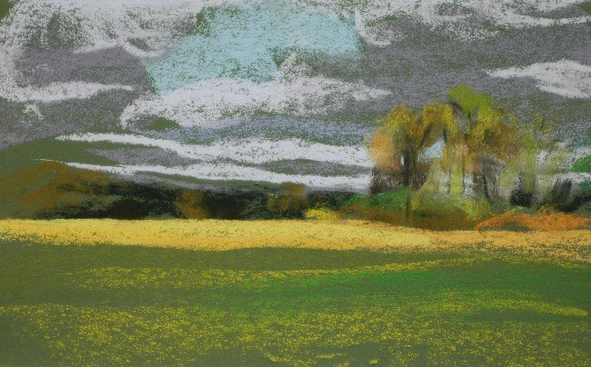 """Clouds"" original fine art by Susan Klabak"