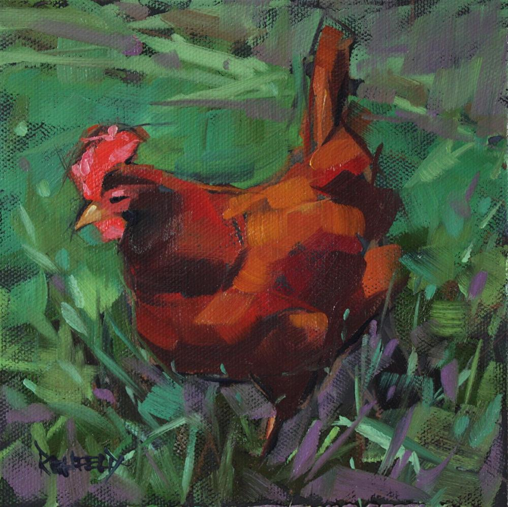 """Reds and Greens"" original fine art by Cathleen Rehfeld"