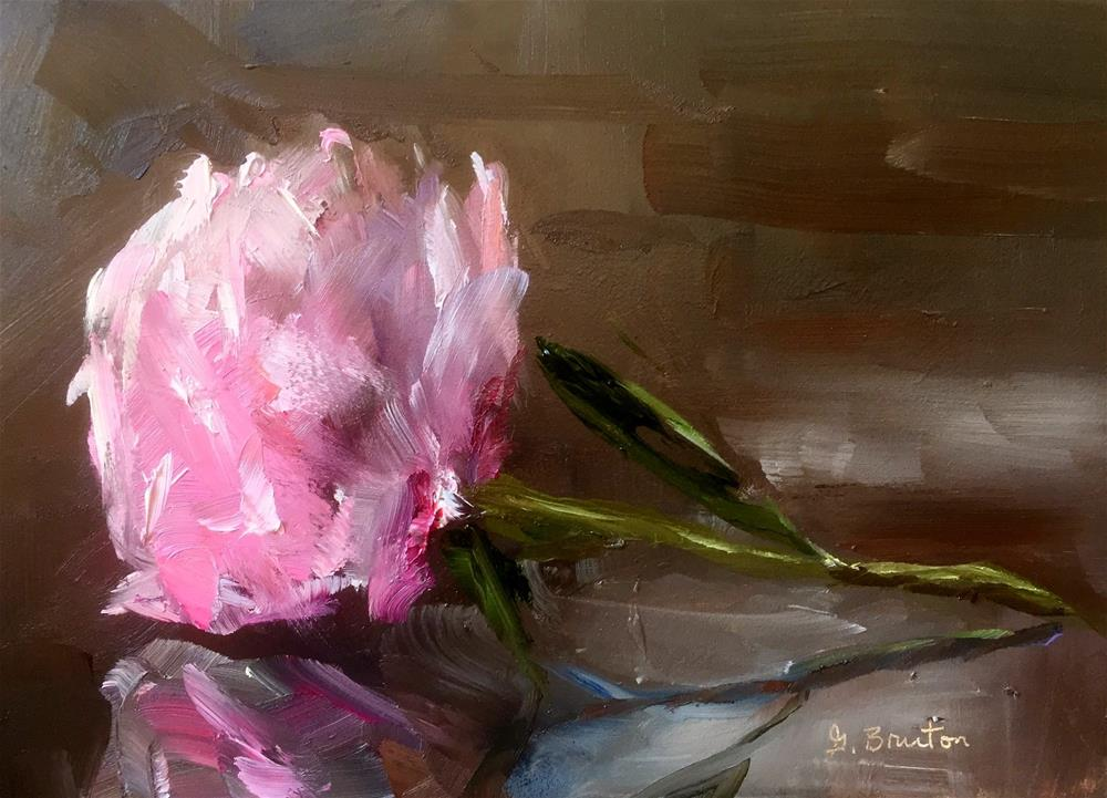 """Peony in Repose"" original fine art by Gary Bruton"