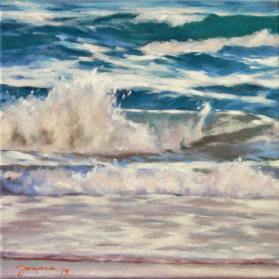 """Atlantic Waves"" original fine art by Joanna Bingham"