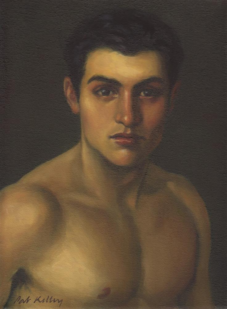 """A Young Man"" original fine art by Pat Kelley"