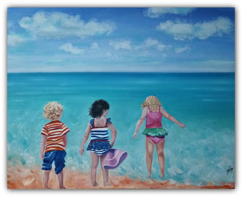 """Beach Buddies"" original fine art by Dana C"