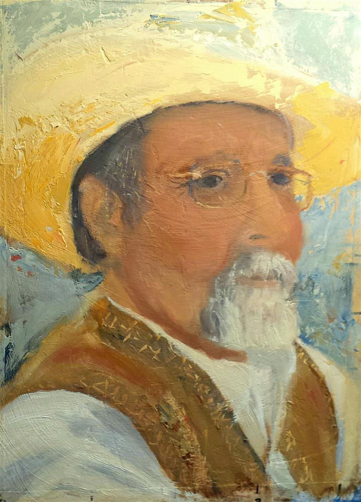 """Senor Pepe, my Cowboy Sweetheart!"" original fine art by Pamela Wedemeyer"