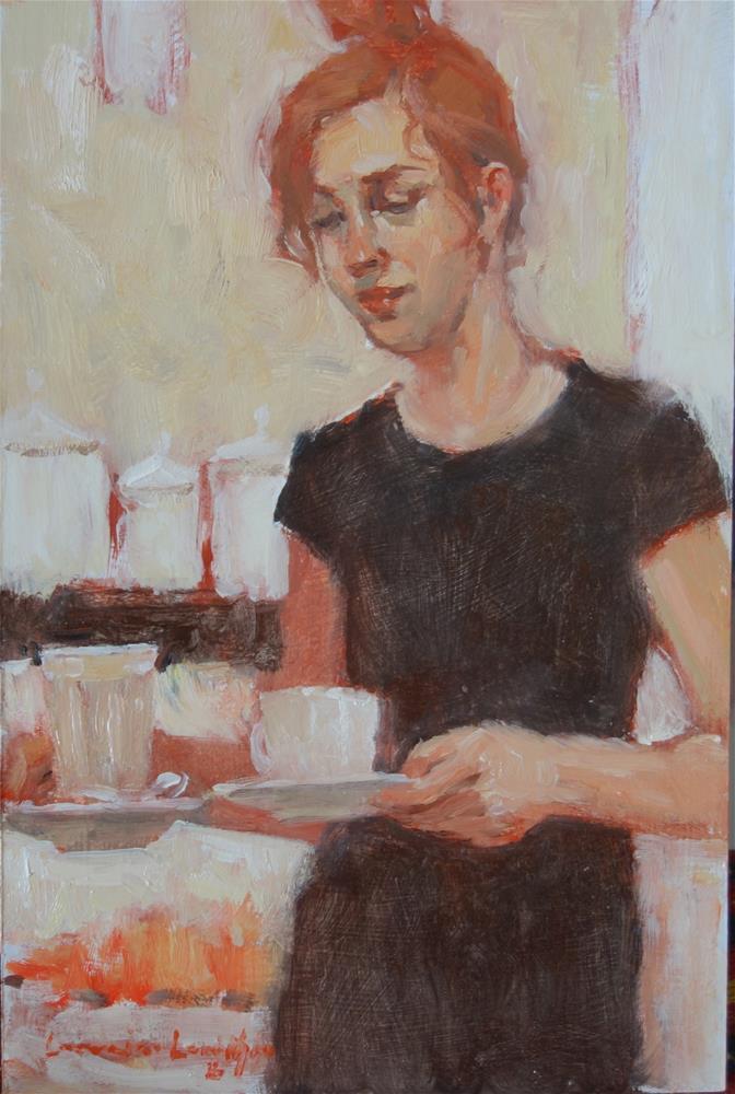 """Concentration"" original fine art by Lorraine Lewitzka"