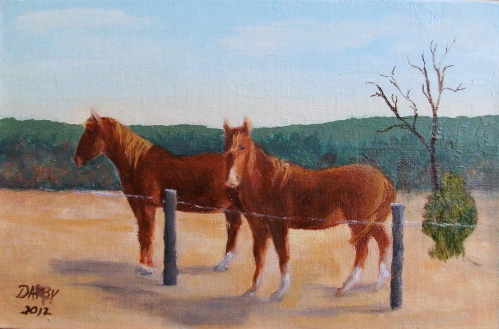 """""""Mates"""" original fine art by Lynn Darby"""
