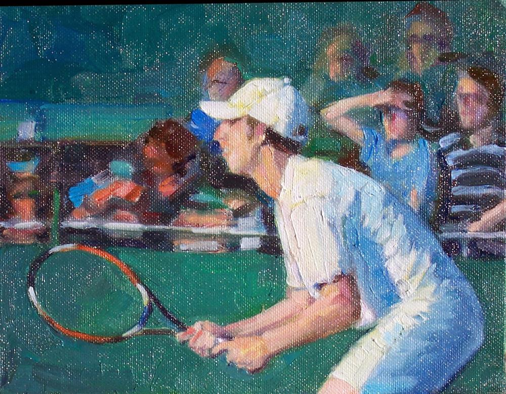 """Ready Eric,Figure,oil on canvas,8x10,price$400"" original fine art by Joy Olney"