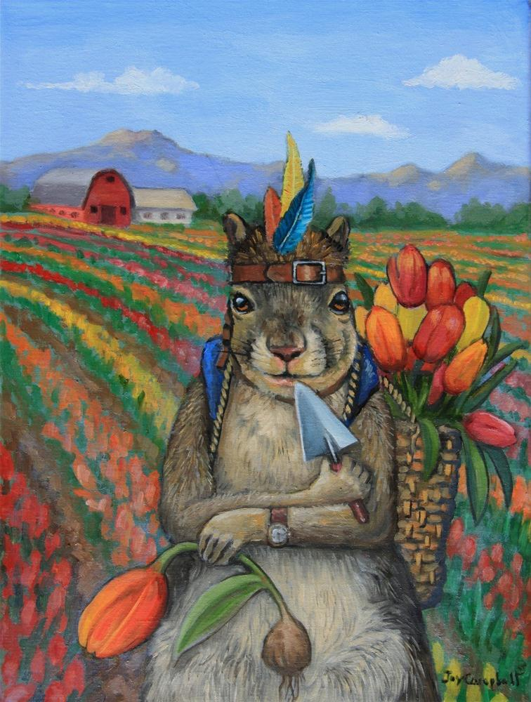 """The Tulip Harvester"" original fine art by Joy Campbell"