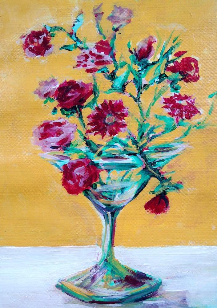 """""""Martini Roses"""" original fine art by Mary Schiros"""