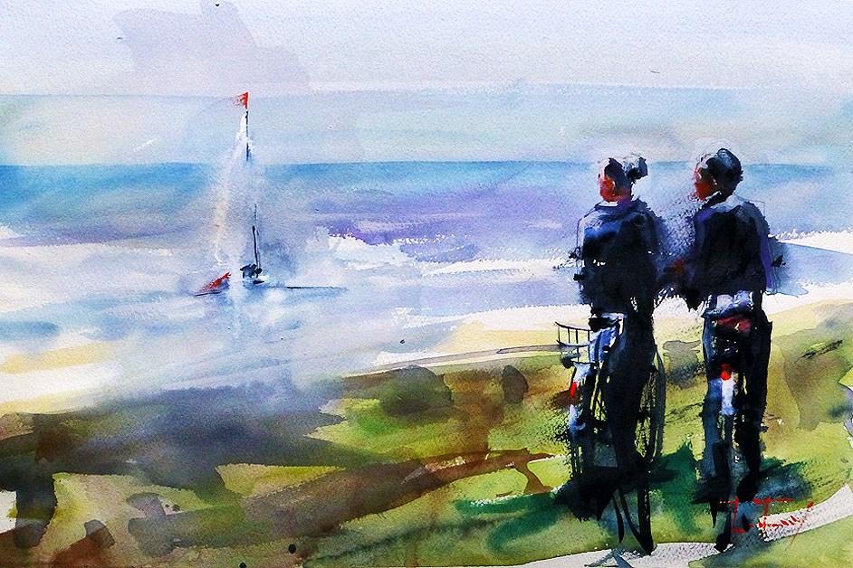 """at sea"" original fine art by Jurij Frey"
