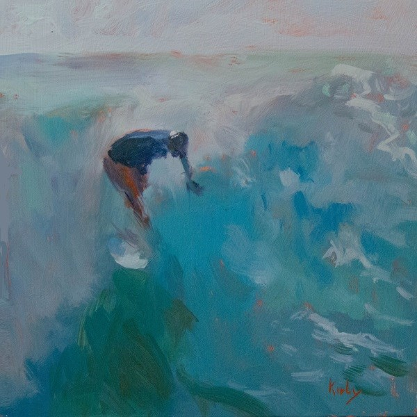 """Surfing Indo"" original fine art by Randall Cogburn"