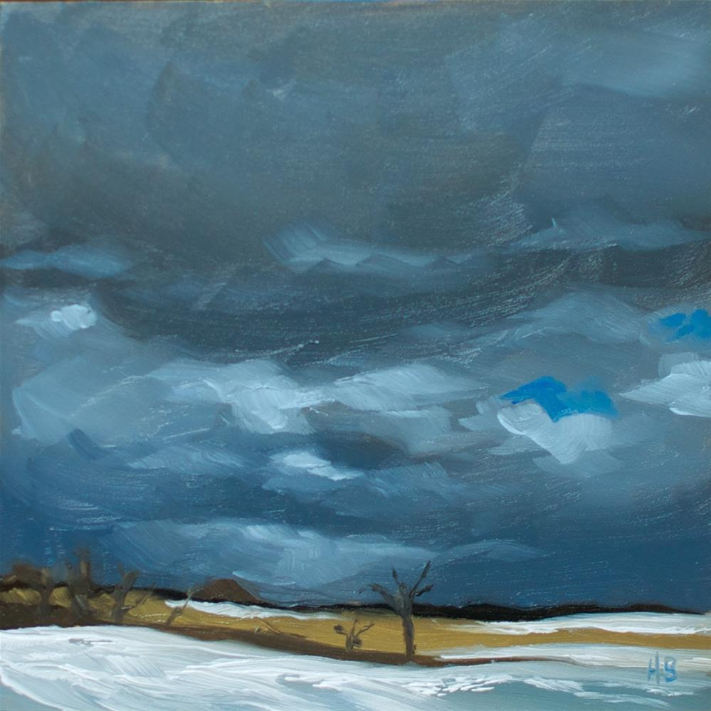 """Winter Storm"" original fine art by Heather Bullach"