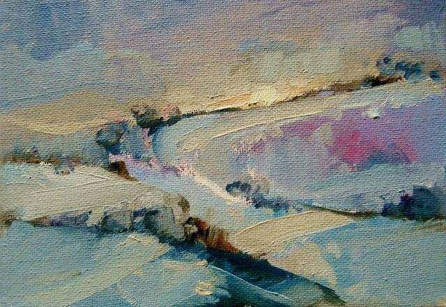 """Sun Setting"" original fine art by Anne Wood"