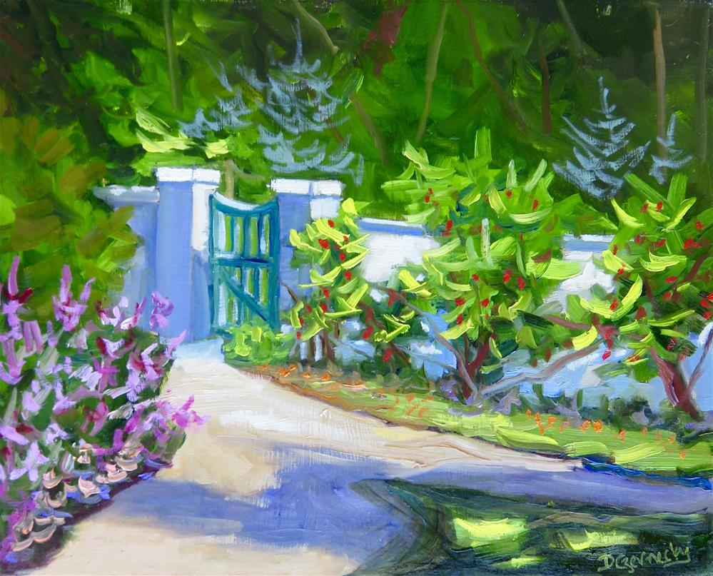"""GARDEN GATE"" original fine art by Deborah Czernecky"