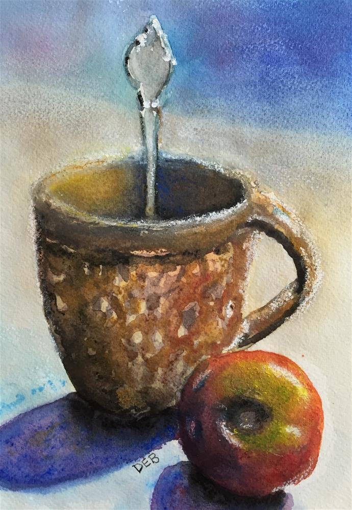 """Coffee with a Tomato"" original fine art by Debbie Yacenda"