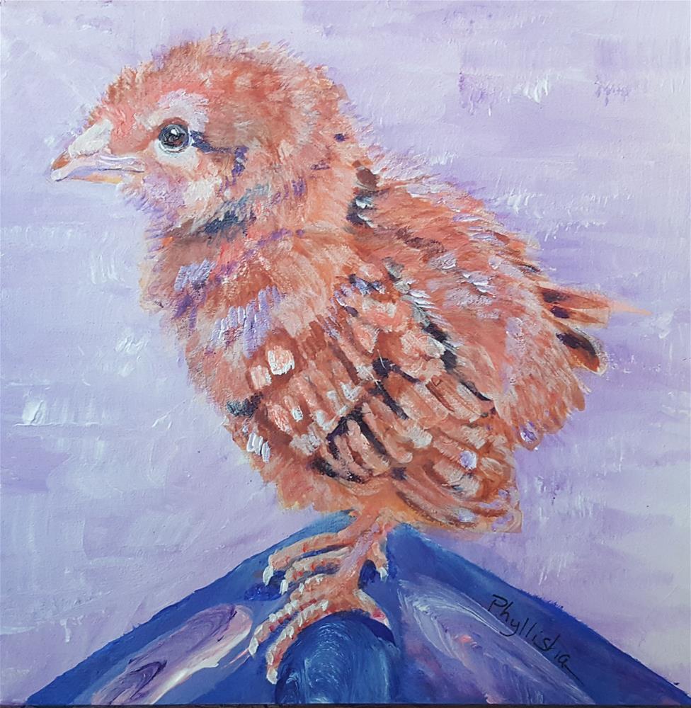 """Little Chick"" original fine art by Phyllisha Hamrick"