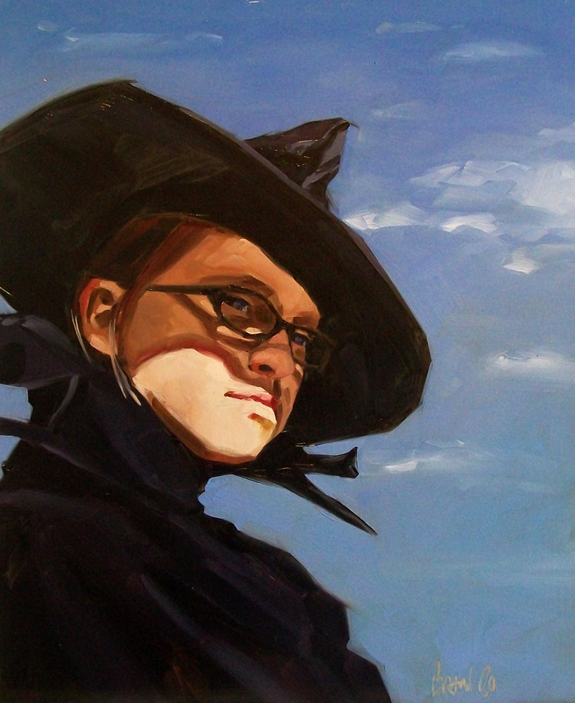 """The witch"" original fine art by Brandi Bowman"