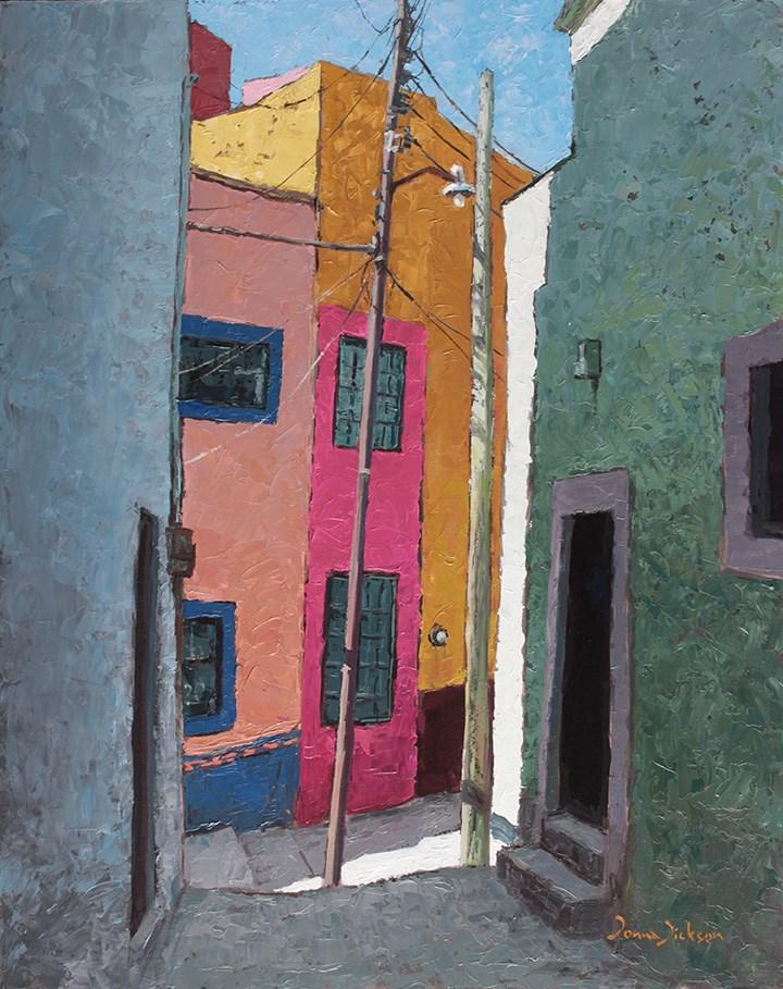 """Colorful Casas"" original fine art by Donna Dickson"