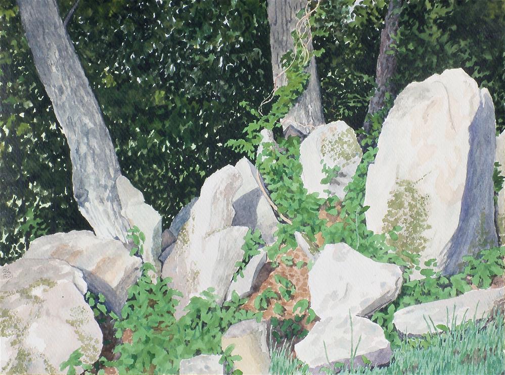 """Rocks & Trees V"" original fine art by Greg Arens"
