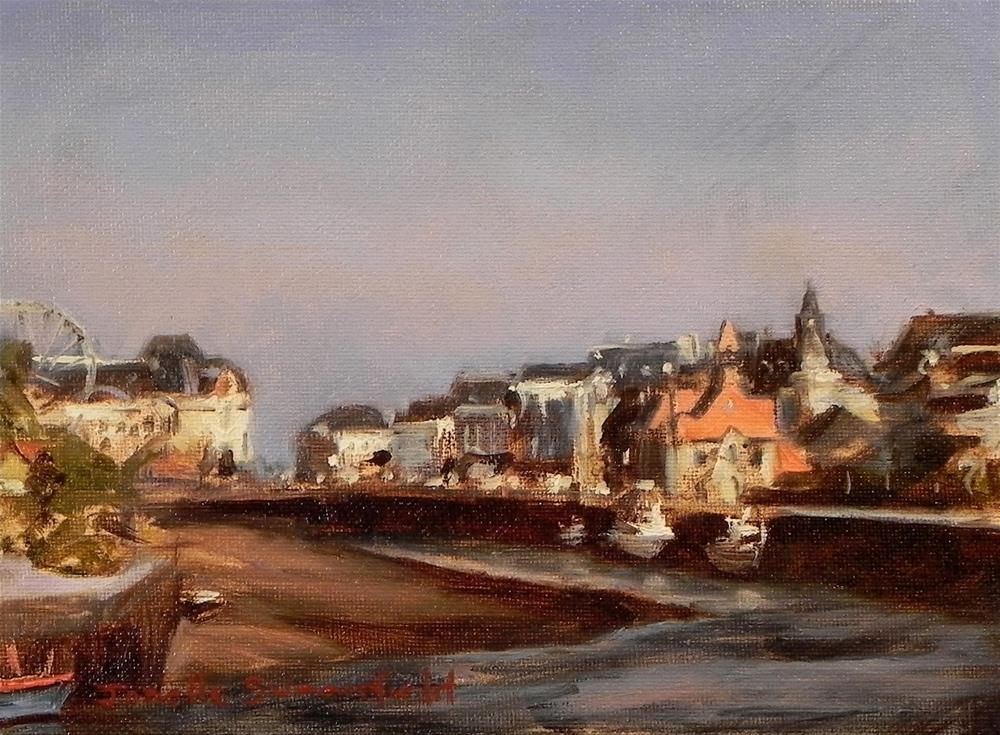 """Trouville Town Study"" original fine art by Jonelle Summerfield"