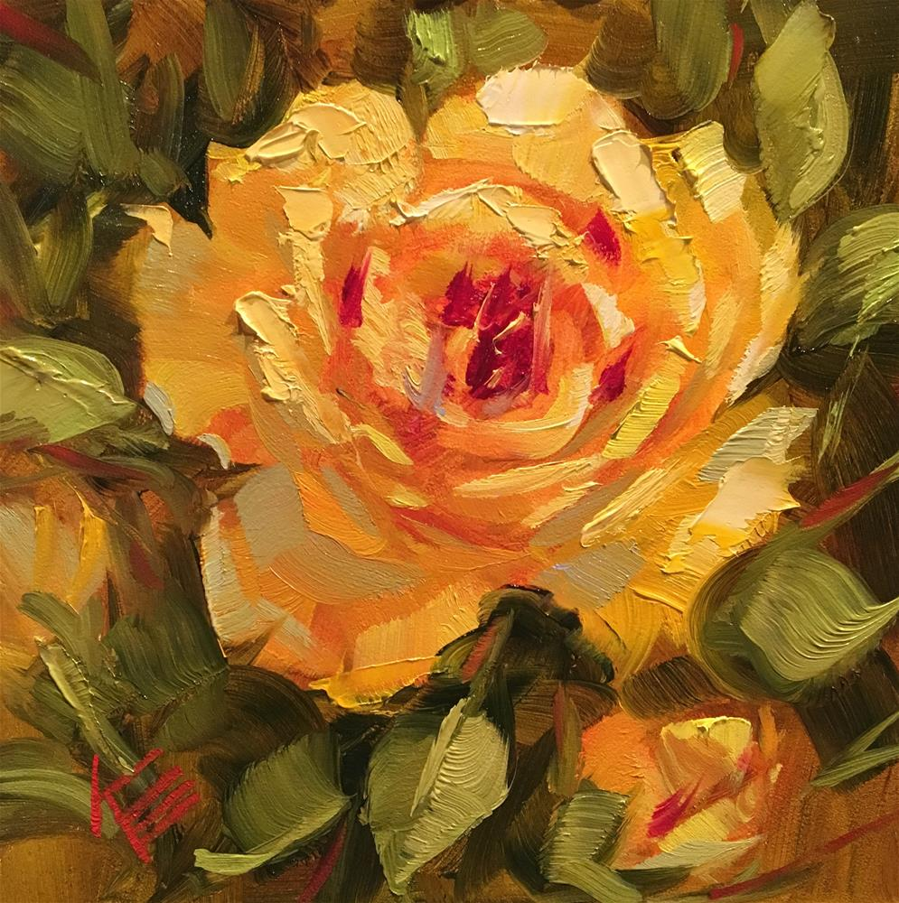 """Yellow Delight"" original fine art by Krista Eaton"