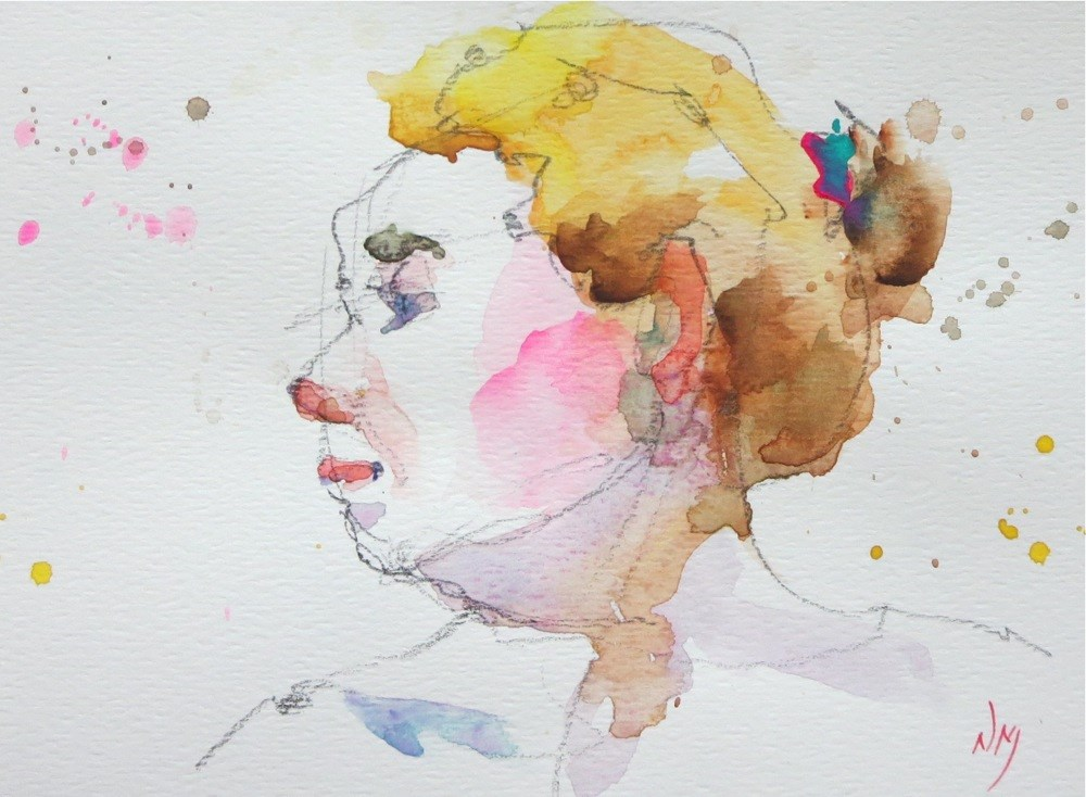 """1 OF 3"" original fine art by Nora MacPhail"