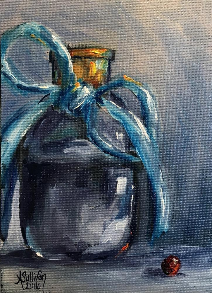 """All Tied Up still life painting by Alabama Artist Angela Sullivan"" original fine art by Angela Sullivan"
