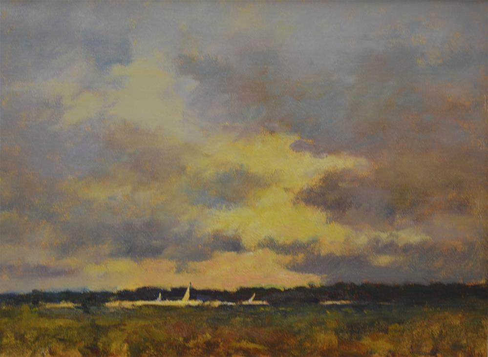 """Across The Harwich Marshes"" original fine art by John Shave"