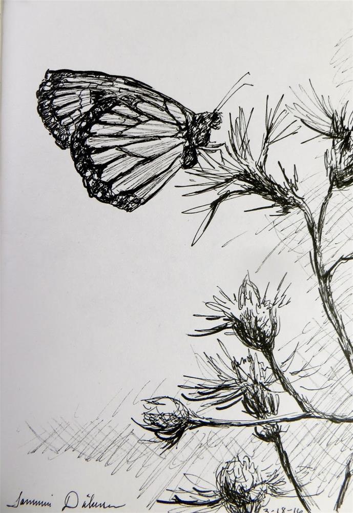 """Monarch"" original fine art by Tammie Dickerson"
