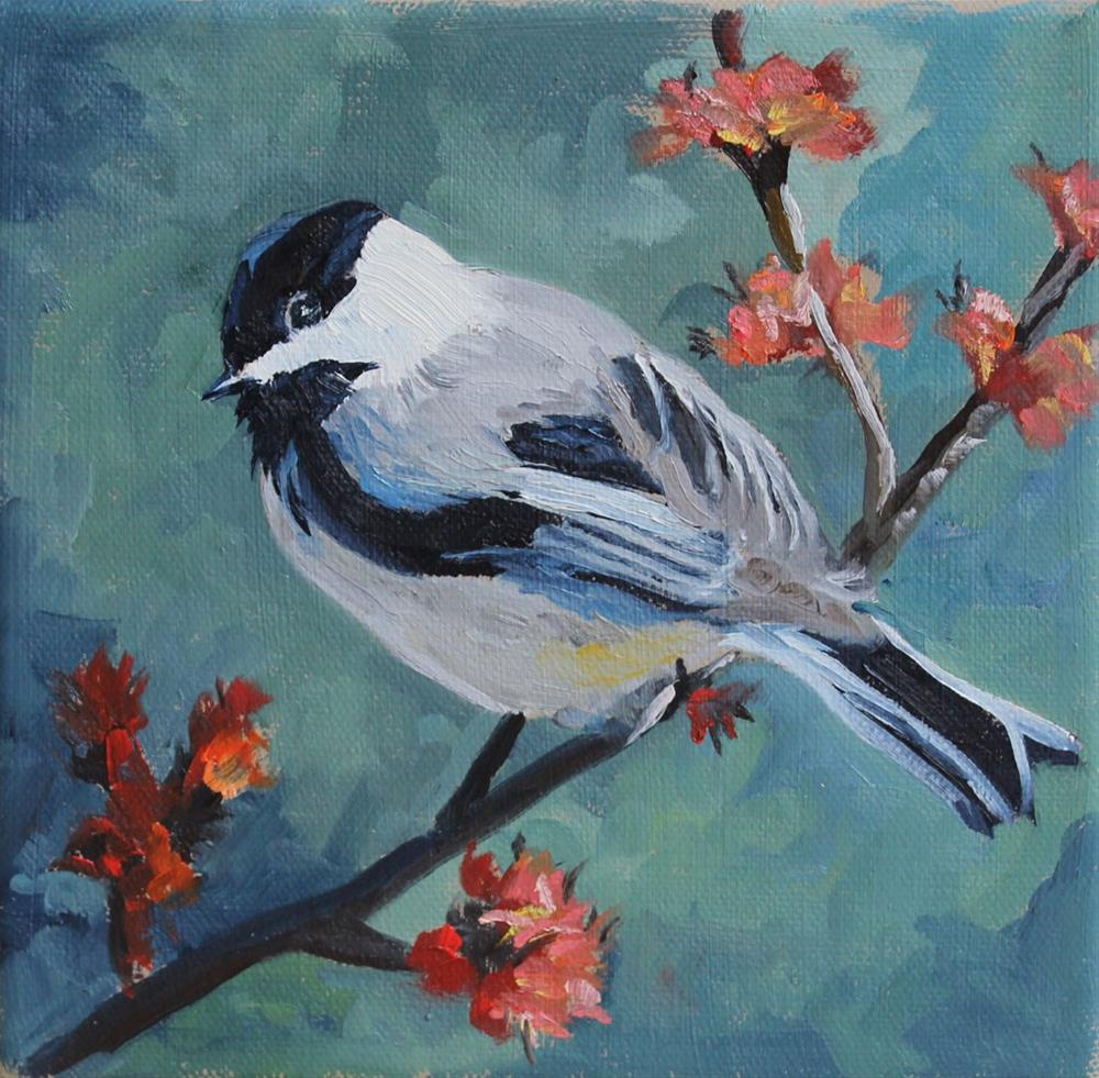 """Chickadee"" original fine art by Susan Andersen"