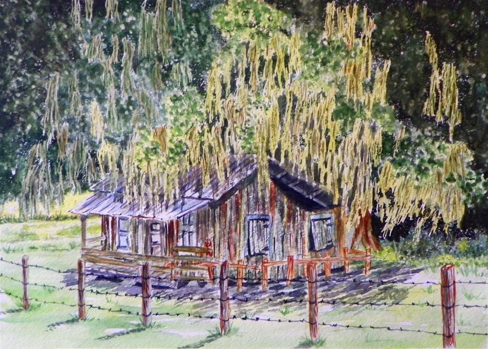 """Spanish Mos Farmhouse # 151"" original fine art by Jim Whiteside"