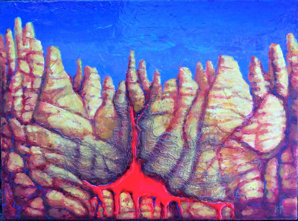 """Secret of the Mountain"" original fine art by Karen Roncari"