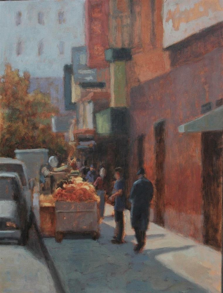 """Chinatown Morning"" original fine art by Eden Compton"