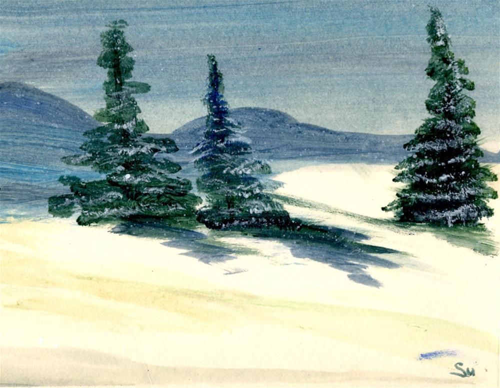 """Colorado Blue Spruce"" original fine art by Susan Duda"