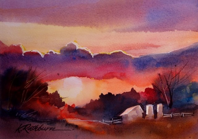 """Evening Aglow"" original fine art by Kathy Los-Rathburn"