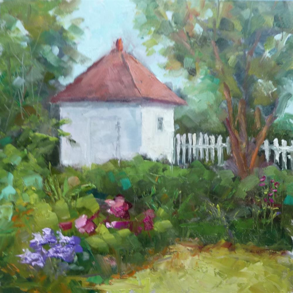 """Mary Washington's Garden"" original fine art by Carol Josefiak"