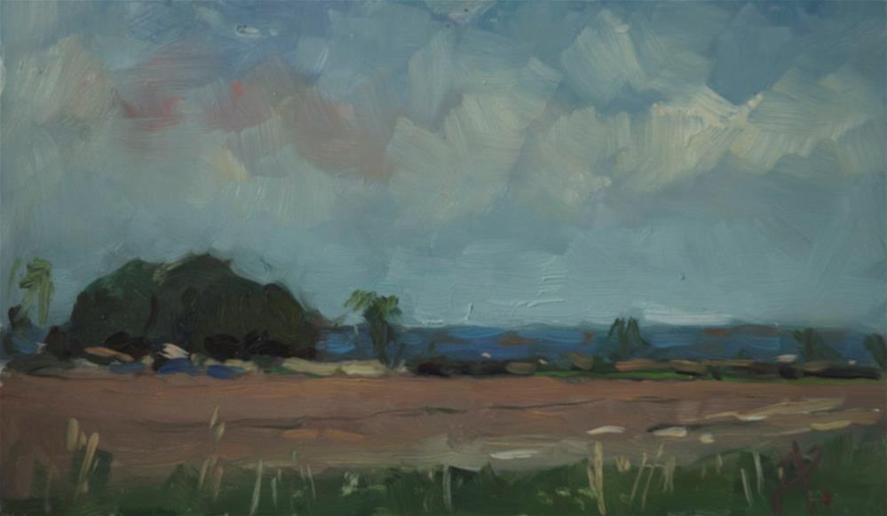 """""""Field at Ford"""" original fine art by Andre Pallat"""