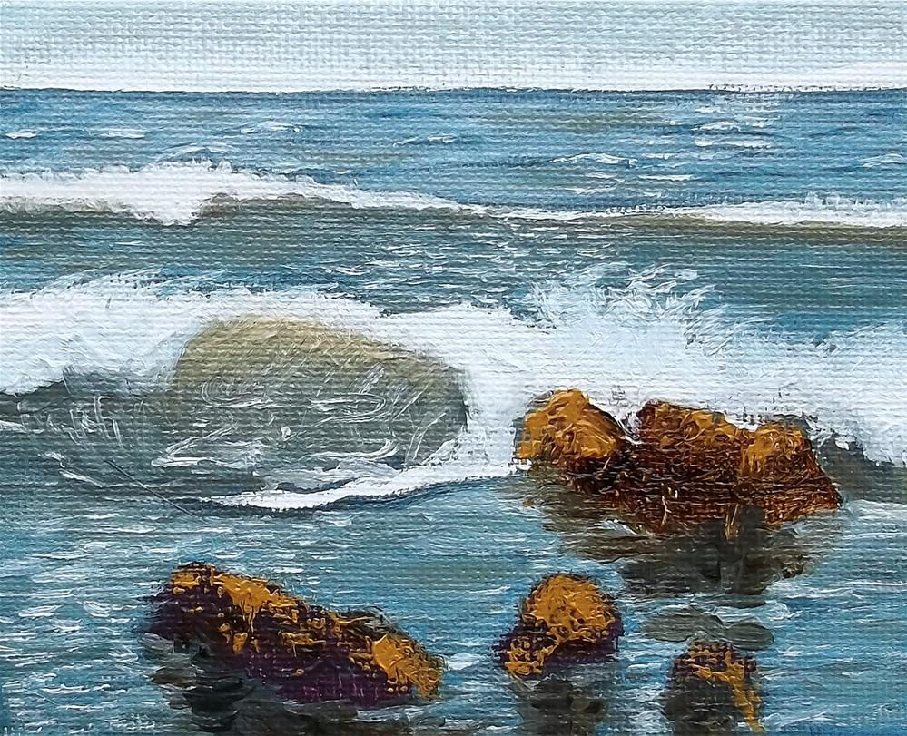 """The Curl"" original fine art by William W. Hoyt"
