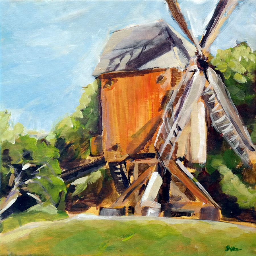 """1045 The Old Mill"" original fine art by Dietmar Stiller"